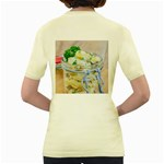 Potato salad in a jar on wooden Women s Yellow T-Shirt Back