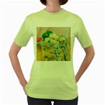 Potato salad in a jar on wooden Women s Green T-Shirt Front