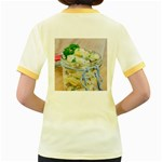 Potato salad in a jar on wooden Women s Fitted Ringer T-Shirts Back