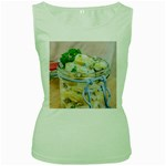 Potato salad in a jar on wooden Women s Green Tank Top Front