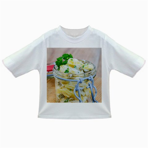 Potato salad in a jar on wooden Infant/Toddler T-Shirts