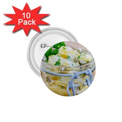 Potato salad in a jar on wooden 1.75  Buttons (10 pack)