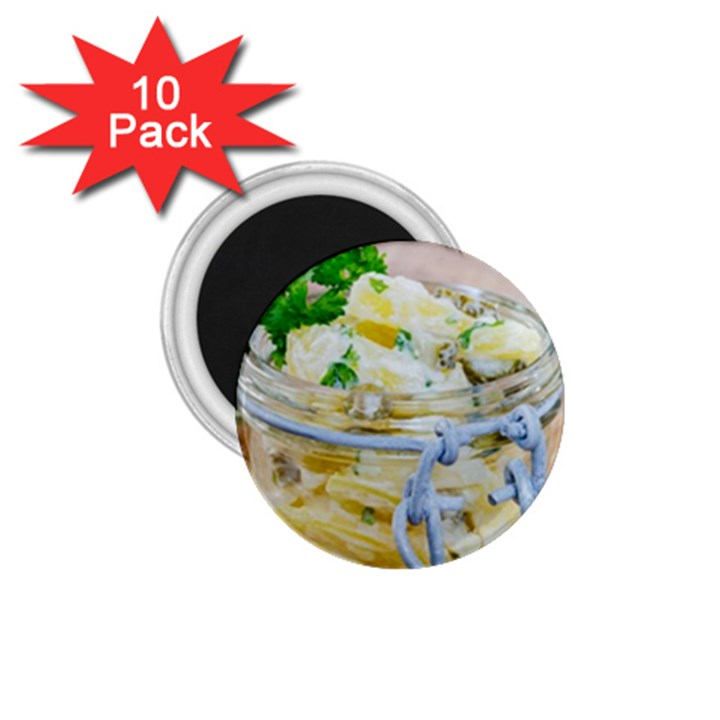 Potato salad in a jar on wooden 1.75  Magnets (10 pack)