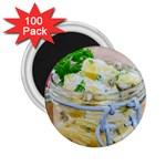 Potato salad in a jar on wooden 2.25  Magnets (100 pack)  Front