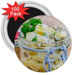 Potato salad in a jar on wooden 3  Magnets (100 pack) Front