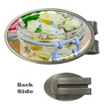Potato salad in a jar on wooden Money Clips (Oval)  Front