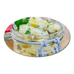 Potato salad in a jar on wooden Oval Magnet Front