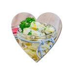 Potato salad in a jar on wooden Heart Magnet Front