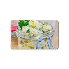 Potato Salad In A Jar On Wooden Magnet (name Card)