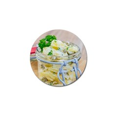 Potato Salad In A Jar On Wooden Golf Ball Marker