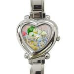 Potato salad in a jar on wooden Heart Italian Charm Watch Front