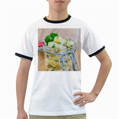 Potato salad in a jar on wooden Ringer T-Shirts