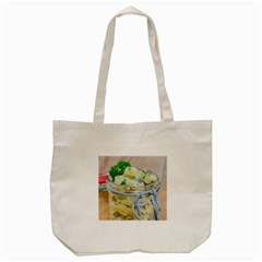 Potato Salad In A Jar On Wooden Tote Bag (cream)
