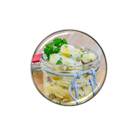 Potato salad in a jar on wooden Hat Clip Ball Marker (4 pack)