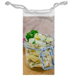 Potato salad in a jar on wooden Jewelry Bags Back