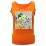 Potato salad in a jar on wooden Women s Dark Tank Top Front