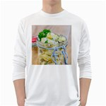 Potato salad in a jar on wooden White Long Sleeve T-Shirts Front