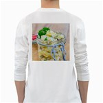 Potato salad in a jar on wooden White Long Sleeve T-Shirts Back