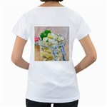 Potato salad in a jar on wooden Women s Loose-Fit T-Shirt (White) Back