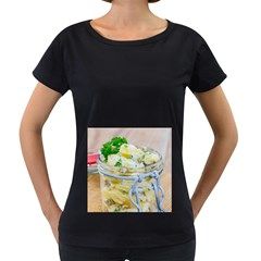 Potato Salad In A Jar On Wooden Women s Loose Fit T Shirt (black)