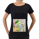 Potato salad in a jar on wooden Women s Loose-Fit T-Shirt (Black) Front