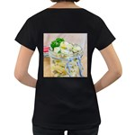 Potato salad in a jar on wooden Women s Loose-Fit T-Shirt (Black) Back