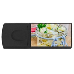 Potato salad in a jar on wooden USB Flash Drive Rectangular (4 GB)