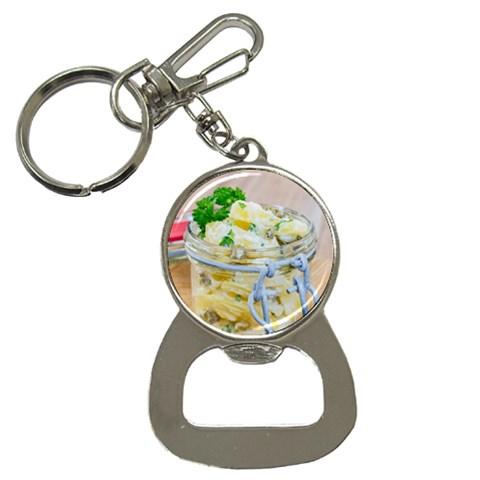 Potato salad in a jar on wooden Bottle Opener Key Chains