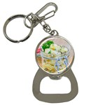 Potato salad in a jar on wooden Bottle Opener Key Chains Front