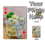Potato salad in a jar on wooden Playing Cards 54 Designs  Front - Heart10