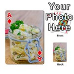 Potato salad in a jar on wooden Playing Cards 54 Designs  Front - DiamondA