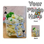 Potato salad in a jar on wooden Playing Cards 54 Designs  Front - Spade7
