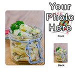 Potato salad in a jar on wooden Playing Cards 54 Designs  Back