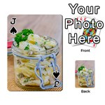 Potato salad in a jar on wooden Playing Cards 54 Designs  Front - SpadeJ