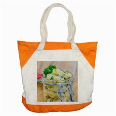Potato Salad In A Jar On Wooden Accent Tote Bag