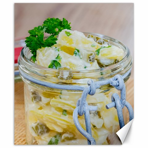Potato salad in a jar on wooden Canvas 8  x 10