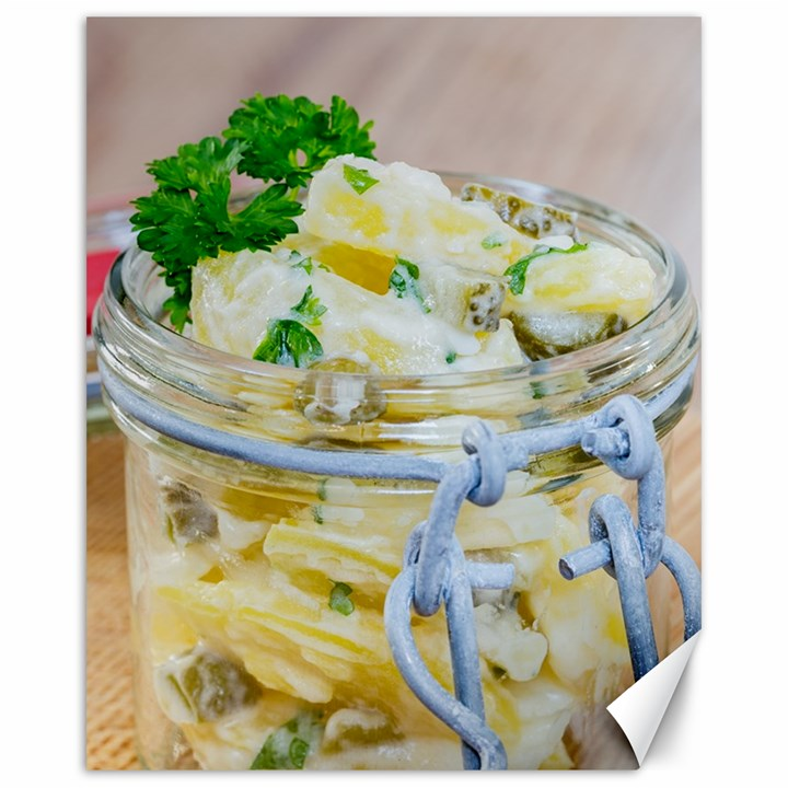 Potato salad in a jar on wooden Canvas 16  x 20