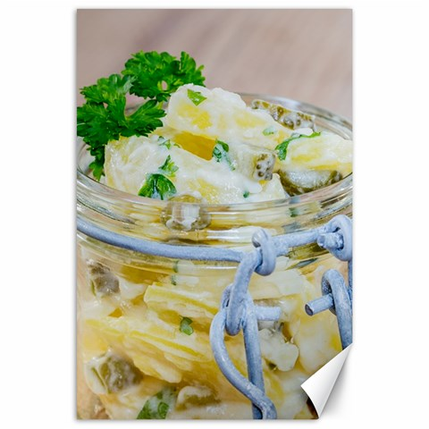 Potato salad in a jar on wooden Canvas 24  x 36