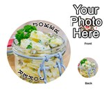 Potato salad in a jar on wooden Playing Cards 54 (Round)  Front - Joker1