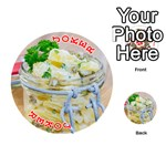 Potato salad in a jar on wooden Playing Cards 54 (Round)  Front - Joker2