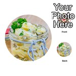 Potato salad in a jar on wooden Playing Cards 54 (Round)  Back