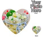 Potato salad in a jar on wooden Playing Cards 54 (Heart)  Front - Heart10