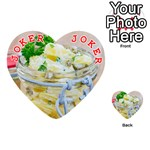Potato salad in a jar on wooden Playing Cards 54 (Heart)  Front - Joker2