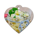 Potato salad in a jar on wooden Dog Tag Heart (Two Sides) Back