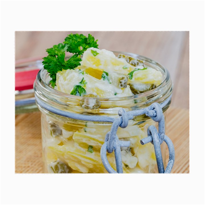 Potato salad in a jar on wooden Small Glasses Cloth (2-Side)