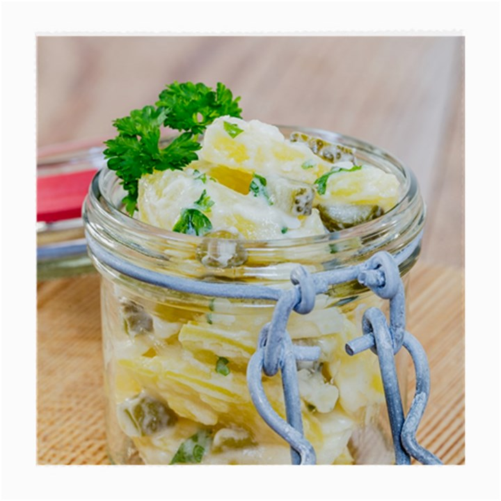 Potato salad in a jar on wooden Medium Glasses Cloth (2-Side)