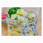 Potato salad in a jar on wooden Large Glasses Cloth Front