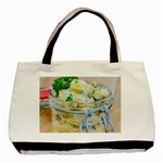 Potato salad in a jar on wooden Basic Tote Bag (Two Sides) Back