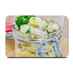 Potato salad in a jar on wooden Small Doormat  24 x16 Door Mat - 1