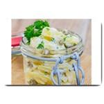 Potato salad in a jar on wooden Large Doormat  30 x20 Door Mat - 1